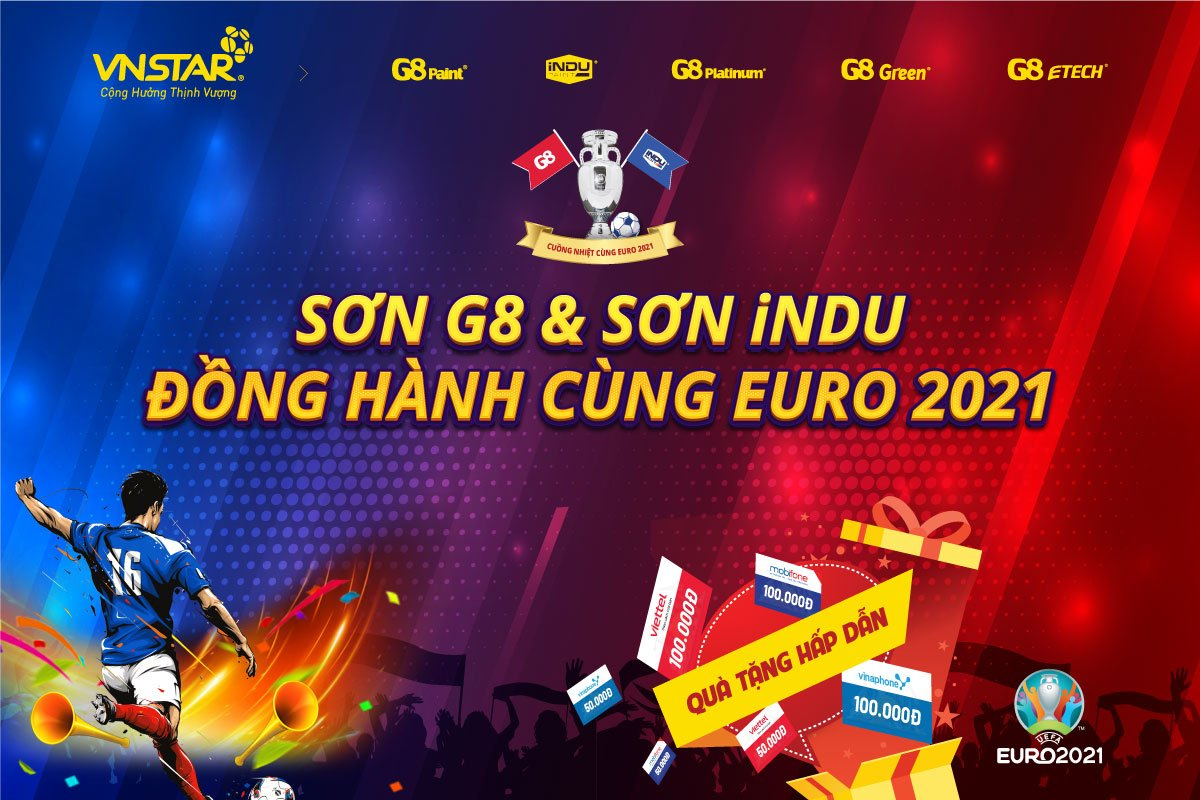 """Chương trình minigames """"Sơn G8 & Sơn iNDU – Đồng hành cùng EURO 2021"""""""
